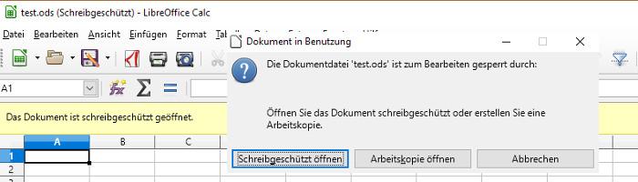 Gesperrte Open Office Dokumente