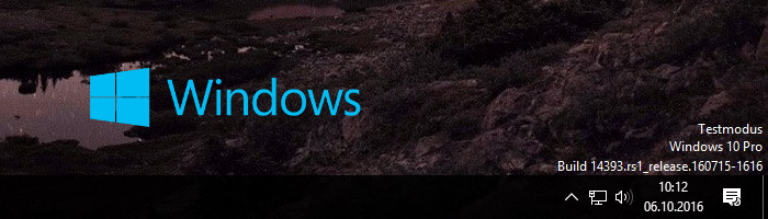 Windows 10 Testmodus