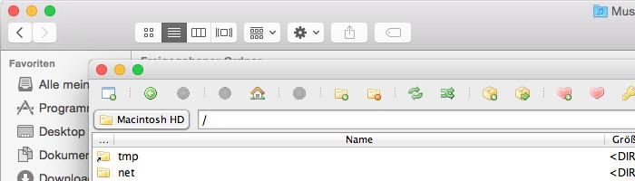 Mac OS Fenster Verhalten