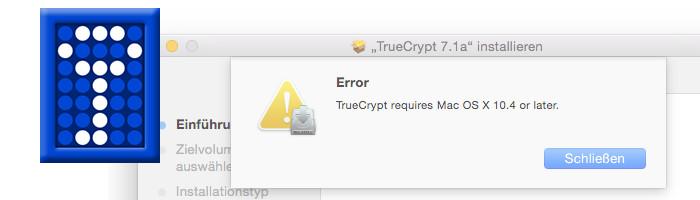 TrueCrypt Error Mac OS