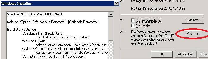 Windows Installer Sicherheit